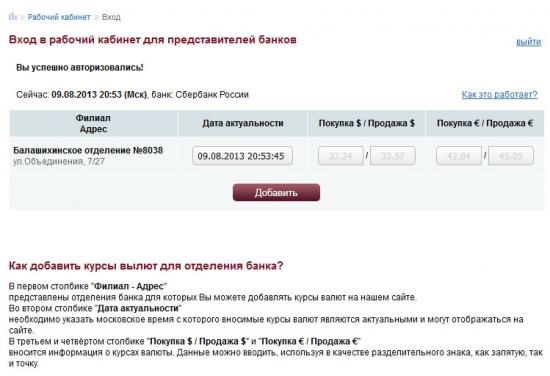 БМСК.ru - Рабочий кабинет для представителей банков